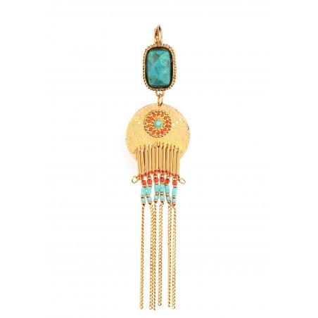 Boucles d'oreilles percées Satellite Cheyenne multicolore