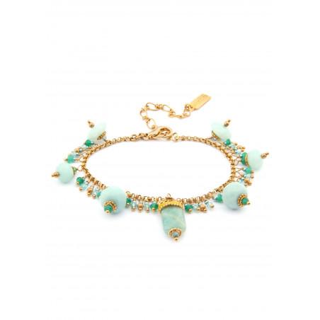 Bracelet Satellite Persane vert