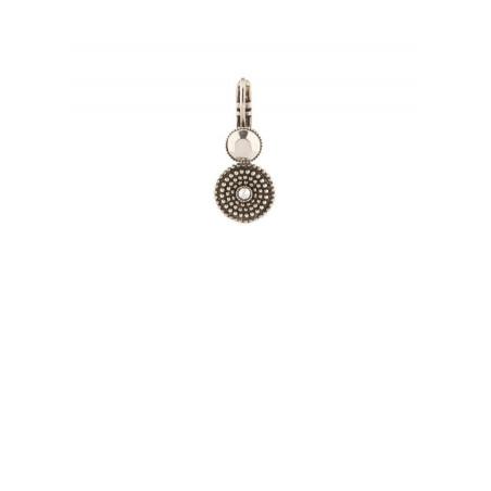 Satellite Iman silver colour pierced earrings