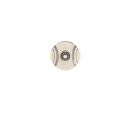 Satellite Iman silver colour clipped earrings
