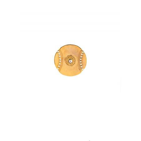 Satellite Iman gold colour clipped earrings