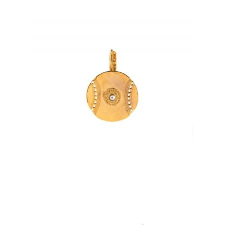 Satellite Iman gold colour pierced earrings