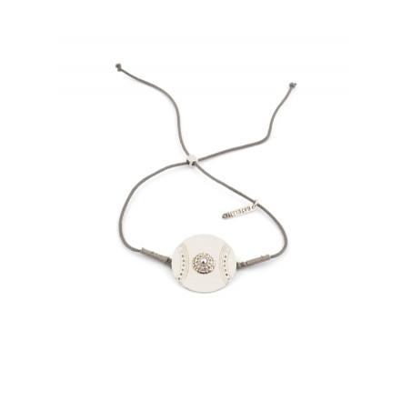 Bracelet original épuré en fil de coton | Argenté