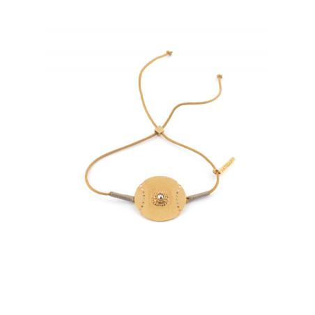 Bracelet original épuré en fil de coton | Doré