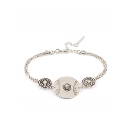 Satellite Iman silver colour bracelet