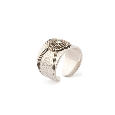 Satellite Iman silver colour ring