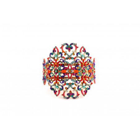 Bracelet jonc glamour en métal doré et cristaux | Multicolore53666