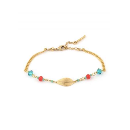 Bracelet chic perles et cristaux | Bleu