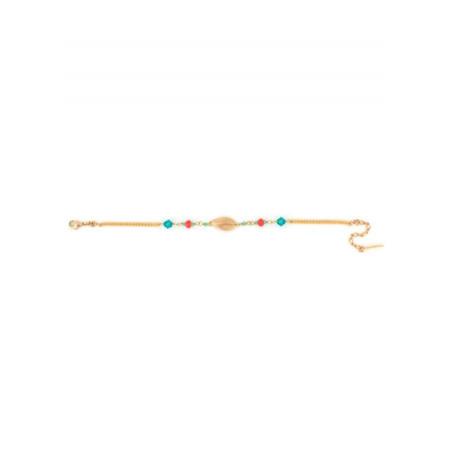 Bracelet chic perles et cristaux | Bleu62191