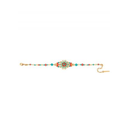 Bracelet tendance perles et cristaux   Bleu62203