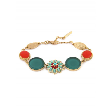 Feminine bead crystal bracelet   Blue