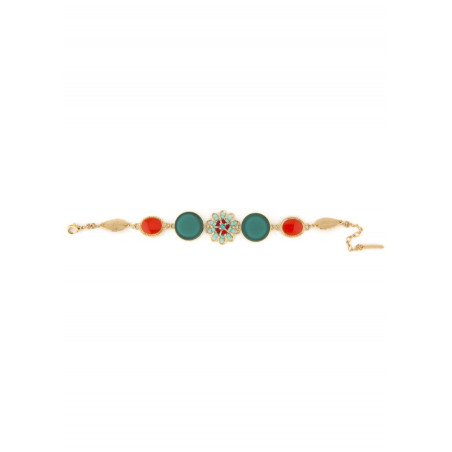 Feminine bead crystal bracelet   Blue62209