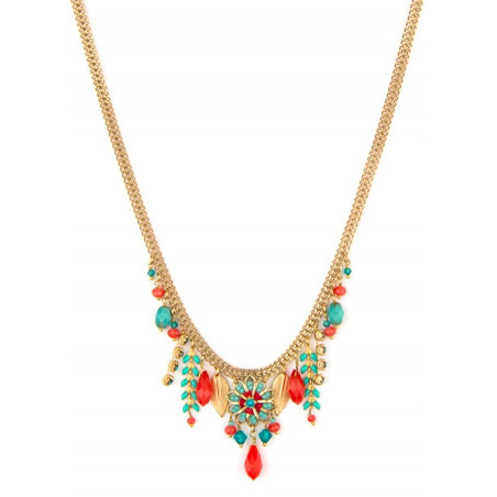 Summery and bead necklace| Blue