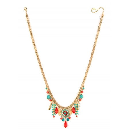 Summery and bead necklace| Blue62239