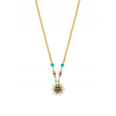 Fashion and bead necklace| Blue