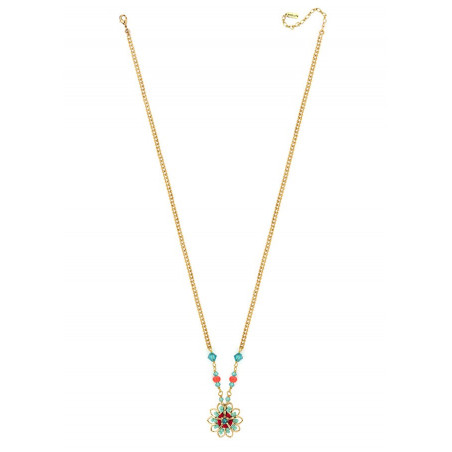 Fashion and bead necklace| Blue62287