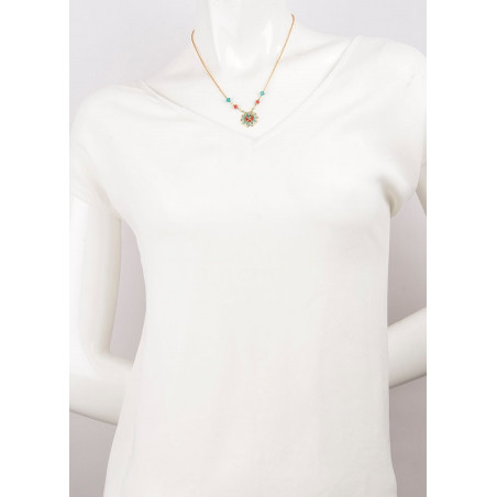Fashion and bead necklace| Blue62288