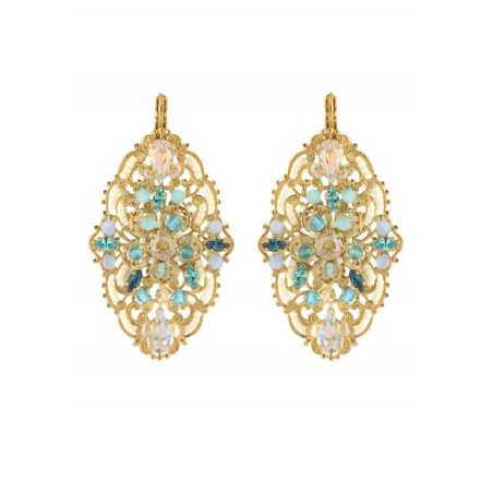 On-trend bead earrings | Turquoise