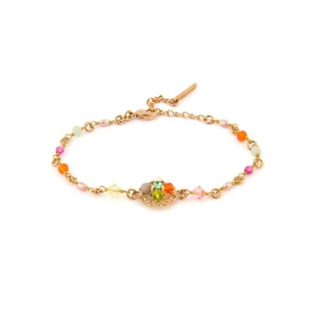 Bracelet chic métal doré et   Multicolore