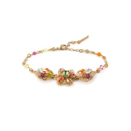 Bracelet tendance métal doré et | Multicolore