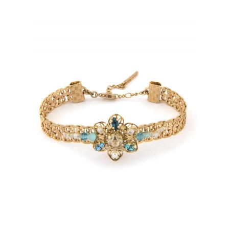 Delicate gold metal bracelet | Turquoise