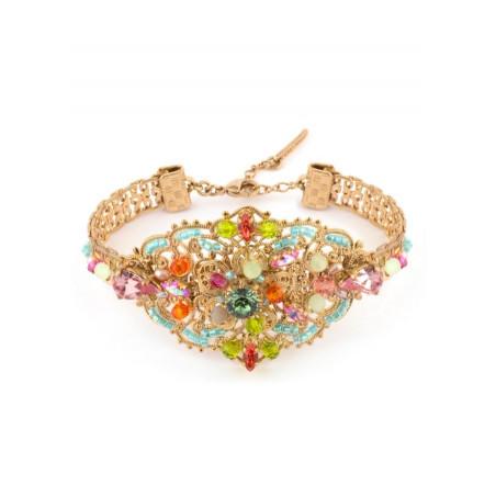 Glamorous gold metal bracelet   Pastel