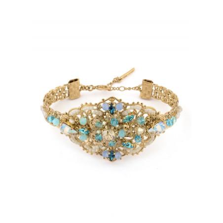 Elegant gold metal bracelet | Turquoise