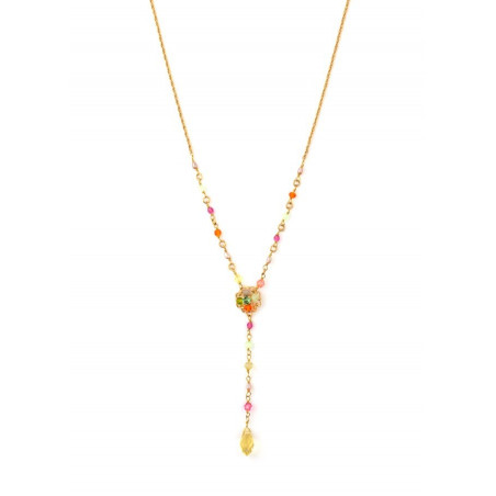 Chic gold metal necklace | Pastel