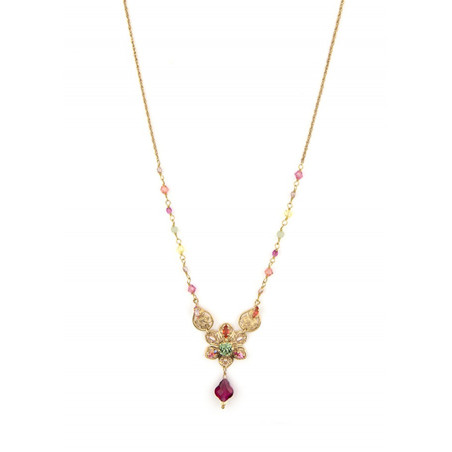 On-trend gold metal necklace | Pastel