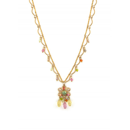 Ethnic gold metal necklace | Pastel