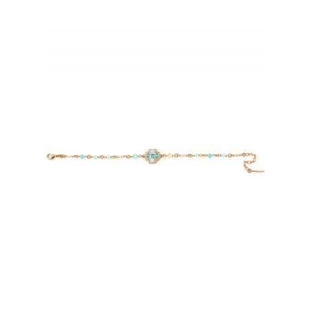 Fashionable gold metal bracelet | Turquoise63081