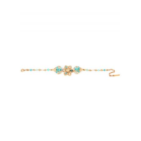 Refined gold metal bracelet | Turquoise63082