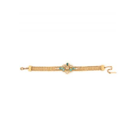 Delicate gold metal bracelet | Turquoise63088