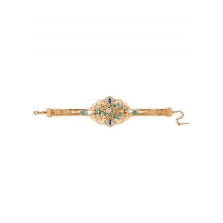 Elegant gold metal bracelet | Turquoise63090