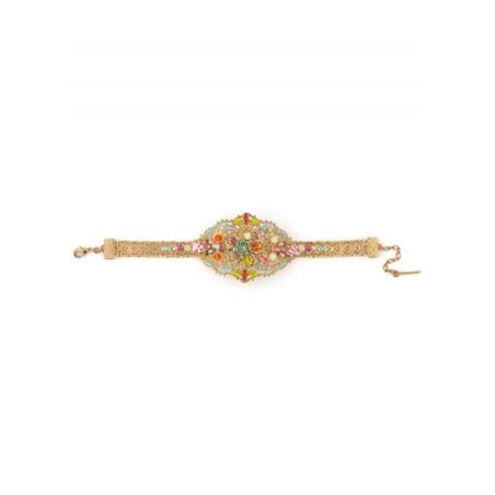 Glamorous gold metal bracelet   Pastel63091