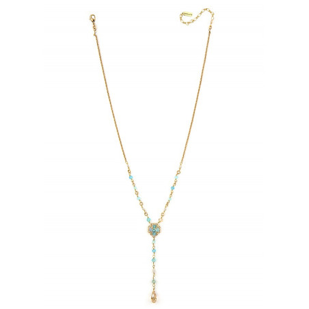 Fashionable gold metal necklace | Turquoise63092