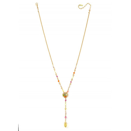Chic gold metal necklace | Pastel63094