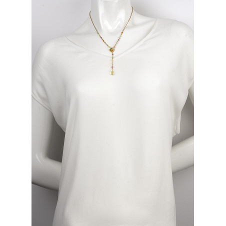 Chic gold metal necklace | Pastel63095