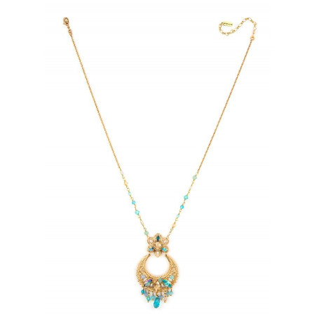 Luxurious gold metal necklace | Turquoise63100