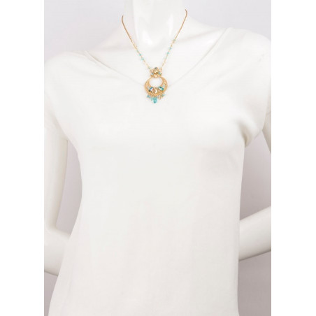 Luxurious gold metal necklace | Turquoise63101