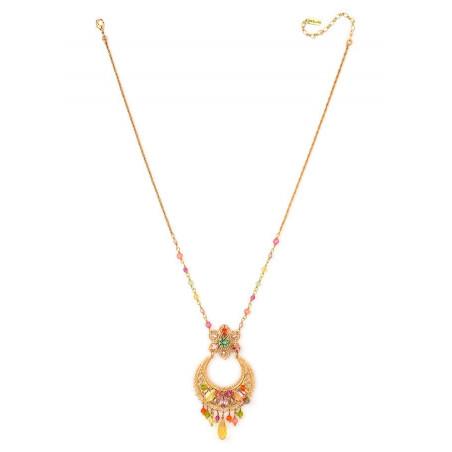 Collier féminin métal doré et | Multicolore63102