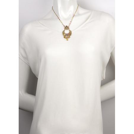 Collier féminin métal doré et | Multicolore63103