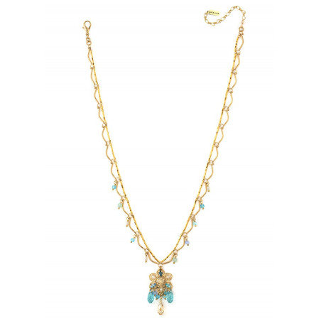 Summer gold metal necklace | Turquoise63104