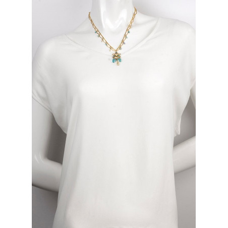 Summer gold metal necklace | Turquoise63105