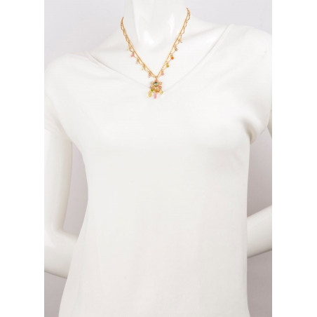 Ethnic gold metal necklace | Pastel63106