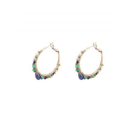 Créoles féminines argentées | Multicolore