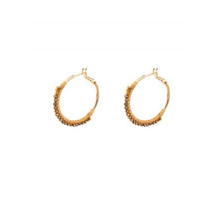 Chic gold metal hoop earrings| Gold