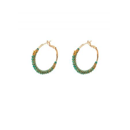 Créoles luxueuses turquoise et hématite | Turquoise