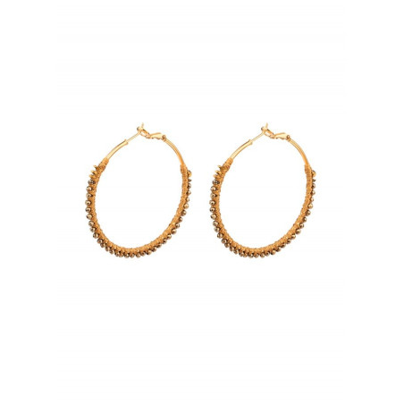 Fashion gold metal hoop earrings| Gold