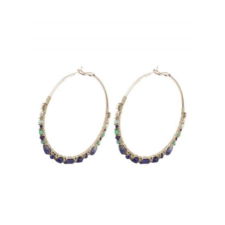 Glamorous silver metal hoop earrings  Multicolor